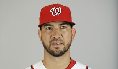 This is a 2015 photo of Rafael Martin of the Washington Nationals baseball team. This image reflects the 2015 active roster as of Sunday, March 1, 2015 when this image was taken. (AP Photo/David Goldman)