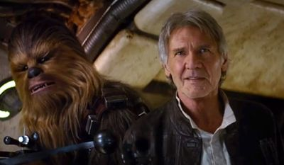 """Harrison Ford stars in """"Star Wars: The Force Awakens,"""" due out in theaters Dec. 18, 2015. (Image: YouTube, Disney, Star Wars official account)"""