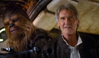 "Harrison Ford stars in ""Star Wars: The Force Awakens,"" due out in theaters Dec. 18, 2015. (Image: YouTube, Disney, Star Wars official account)"
