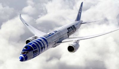 All Nippon Airways (ANA) of Japan will soon have an R2-D2-themed 787 Dreamliner in its fleet. (Image: All Nippon Airways)