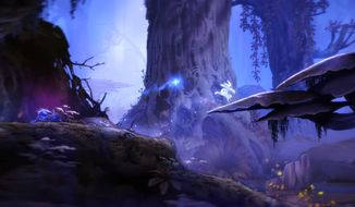 A tree spirit helps bring his world back to life in the video game Ori and the Blind Forest from Microsoft Studios and Moon Studios.