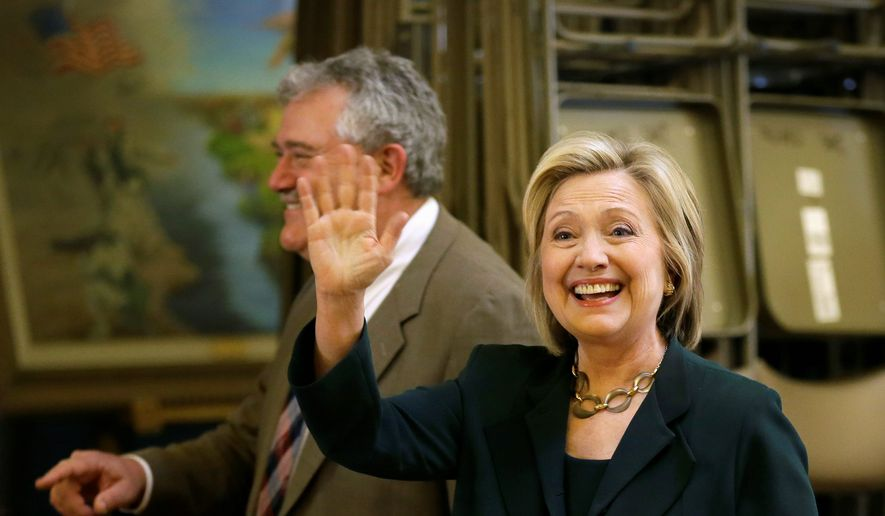 Hillary Rodham Clinton has recalibrated her stances on issues such as same-sex marriage in her latest bid for the presidency. (Associated Press)