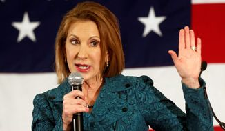 Carly Fiorina, considered a Washington outsider due to her lack of prior elected office, is taking a long-term fundraising approach in her quest for the Republican presidential nomination in 2016. (Associated Press)