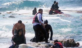 European rescue crews are responding regularly as boats filled with refugees from Africa and the Middle East attempt a perilous journey across the Mediterranean Sea. As many as 700 drowned trying to reach shore over the weekend. (Associated Press) **FILE**
