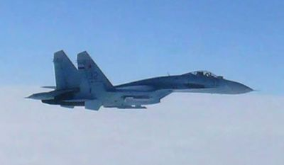 Japan's government said that the number of scrambles by the country's warplanes due to Russian incursions has surged to levels nearly matching the Cold War era. (Associated Press)