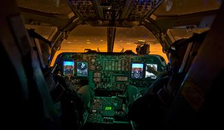 Inside a newly-upgraded operational B-1B Lancer Jan. 21, 2014, at Dyess Air Force Base, Texas. U.S. Air Force photo.