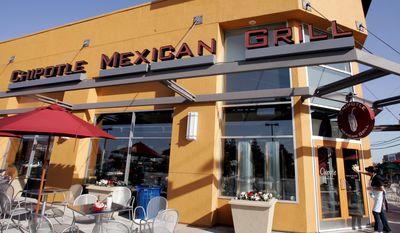 A day after emerging rival Chipotle Mexican Grill said comparable-store sales were up 10.4 percent during the first quarter of this year, McDonald's announced that its per-location sales globally were off 2.3 percent during the quarter. (Associated Press)