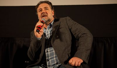 """""""I found this voice coming out of me saying, 'You must take responsibility for this film.' I understand this story; nobody else can do this story the way I can do this story,"""" Russell Crowe said of """"The Water Diviner."""" (Associated press)"""