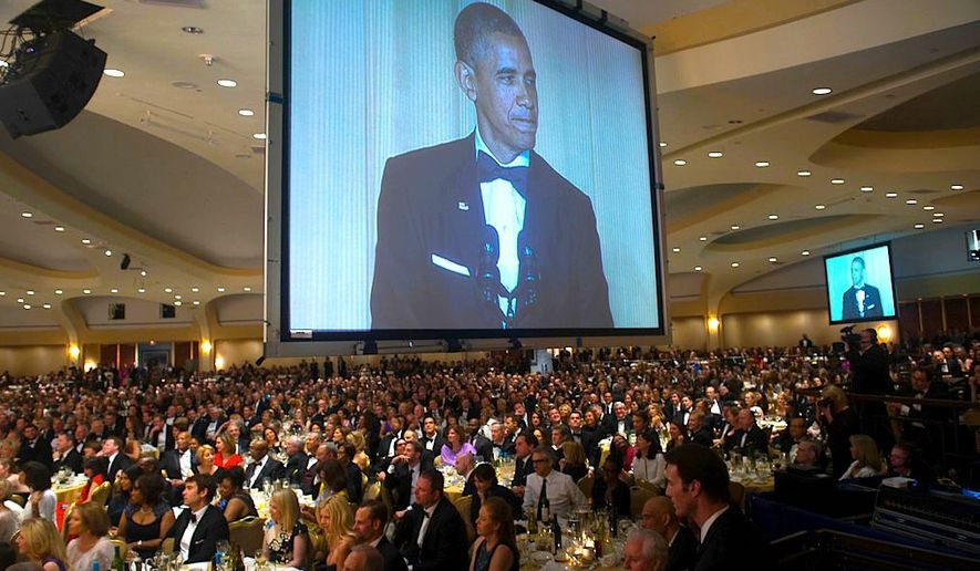 "The White House Correspondents' Dinner will host 2,600 guests, even though there are only 260 officially credentialed ""correspondents."" Over 1,000 would-be guests were turned away. (Photo by J.M Eddins for White House Correspondents Assoc.)"