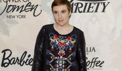 Lena Dunham attends Variety's Power of Women Luncheon at Cipriani Midtown on Friday, April 24, 2015, in New York. (Photo by Andy Kropa/Invision/AP)