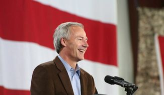 Arkansas Gov. Asa Hutchinson has common-sense advice on uniting the Republican Party. (ASSOCIATED PRESS)