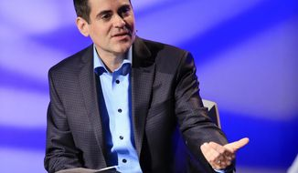 Rev. Russell Moore, director of the Southern Baptist's Ethics and Religious Liberty Commission, speaks in Nashville, Tenn., on Oct. 28, 2014. (Associated Press) **FILE**