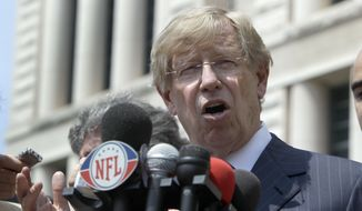 """If you read what the Supreme Court said"" in a 2013 gay marriage case, Windsor v. United States, ""there's really no other way for the Supreme Court to come out in the case that's up for argument on Tuesday,"" lawyer Ted Olson said on NBC's ""Meet the Press."" (Associated Press)"