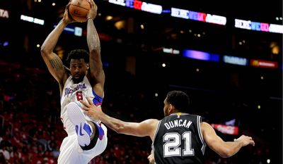 Los Angeles Clippers center DeAndre Jordan has been the target of an intentional foul strategy by the San Antonio Spurs at end of games in their first-round playoff series. (Associated Press)