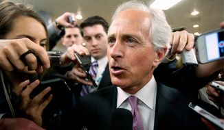 """""""There is no question this budget is far from perfect, but it is some progress since it has been a long time since the Congress has completed this basic part of governing,"""" said Sen. Bob Corker of Tennessee, who had refused to sign off on the budget, objecting to the """"gimmicks,"""" before relenting on Wednesday. (Associated Press)"""