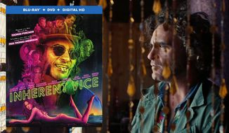 Joaquin Phoenix stars as Doc Sportello, a hippie private detective in a heap of trouble in Inherent Vice, now on Blu-ray. (Courtesy Warner Home Video)