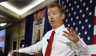 Republican Sen. Rand Paul, R-Ky., speaks in Nashua, N.H., in this April 18, 2015, file photo. (AP Photo/Jim Cole)