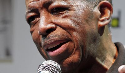 "FILE - In this Nov. 15, 2011, file photo, singer Ben E. King speaks during a news conference in Tokyo. King, singer of such classics as ""Stand By Me,"" ""There Goes My Baby"" and ""Spanish Harlem,"" died Thursday, April 30, 2015, publicist Phil Brown told The Associated Press. He was 76.  (AP Photo/Itsuo Inouye, File)"