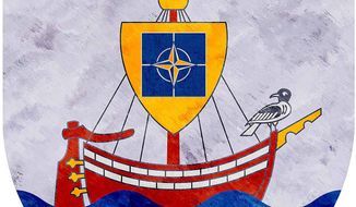 Hanseatic shield illustration by Greg Groesch/The Washington Times