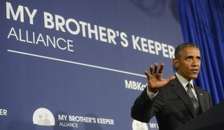 President Obama's My Brother's Keeper Alliance is an outgrowth of his year-old My Brother's Keeper initiative, which has focused on federal government policies and grants designed to increase access to education and jobs. Mr. Obama has spoken out on recent events in Baltimore, which he says highlights the need for greater relations between the police and communities of color. (The Daily News via Associated Press)