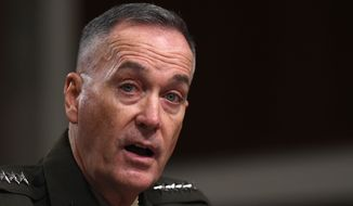 President Barack Obama nominated Marine Gen. Joseph Dunford Jr. as the next chairman of the Joint Chiefs of Staff, choosing a widely respected, combat-hardened commander who led the Afghanistan war coalition during a key transition in 2013-2014. (Associated Press)