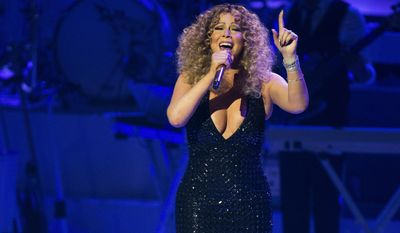 Recording artist Mariah Carey performs at The Colosseum at Caesars Palace, Wednesday, May 6, 2015, in Las Vegas. (Photo by Eric Jamison/Invision/AP)