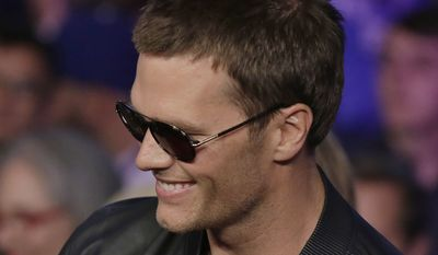 "Tom Brady spoke Thursday night at a previously scheduled question-and-answer session at Salem State University with journalist Jim Gray. Mr. Brady entered the room to a standing ovation from an audience that he described as being ""like a Patriot pep rally."""