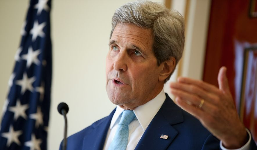 Secretary of State John F. Kerry hopes to keep the Ukraine situation separate from his push for a new dialogue with Russian President Vladimir Putin over Syria, U.S. officials said Monday. (Associated Press)