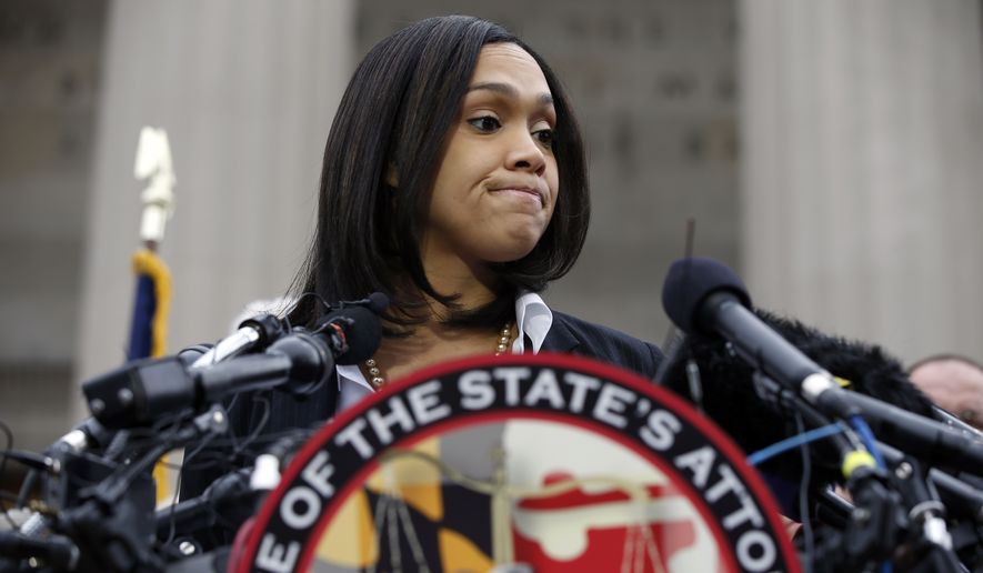 legal experts say Marilyn Mosby is in danger of running afoul of the Maryland Bar standards barring prejudicial conduct by prosecutors, or at the very least traveling down a well-worn path of failed celebrity prosecutions like those involving O.J. Simpson, George Zimmerman or the Duke lacrosse players. (Associated Press)