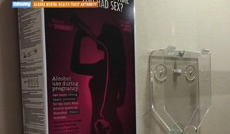 An Alaska state-funded project is putting free pregnancy tests in bar bathrooms in an effort to prevent fetal alcohol syndrome. (Newsy)