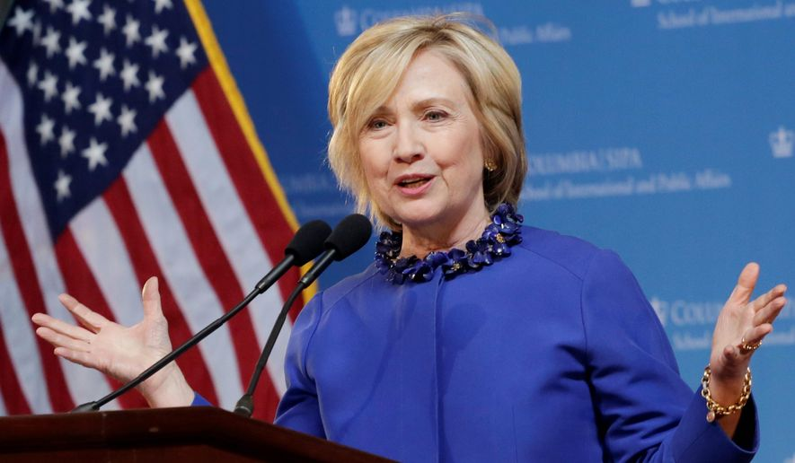 American Conservative Union's new annual rating of Congress shows Hillary Clinton had a more liberal voting record than President Obama when they were both senators, bucking pundits' views she's more centrist. (Associated Press)