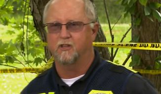 Joe Wooten, special agent in charge with the Georgia Bureau of Investigation, speaks to reporters on Tuesday, May 12 about a case involving a black man found hanging from a tree. Police do not suspect foul play at this point in time. (Image: CNN screenshot)