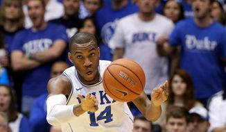 Maryland transfer Rasheed Sulaimon said his dismissal from the Duke program had nothing to do with a sexual assault allegation against him. (Associated Press)