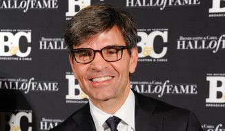 "FILE - This Oct. 20, 2014 file photo shows George Stephanopoulos at the 24th Annual Broadcasting and Cable Hall of Fame Awards in New York. Stephanopoulos has apologized for not notifying his employer and viewers about two contributions totaling $50,000 that he made to the Clinton Foundation. ABC's news division said Thursday, May 15, 2015, that ""we stand behind him."" The donations, made in two installments in 2013 and 2014 and first reported in Politico, were made because of Stephanopoulos' interest in the foundation's work on global AIDS prevention and deforestation, he said. (Photo by Evan Agostini/Invision/AP, File)"