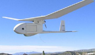 Fort Carson controllers lost track of a RQ-11 drone that landed in a man's yard in Colorado Springs, Colo. (Image: U.S. Air Force) ** FILE **