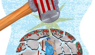 Justice Department destroys state sovereignty illustration by Greg Groesch/The Washington Times