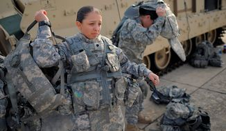 The National Women's Law Center is taking the U.S. military culture to task for being slow to integrate women into combat positions, but the pool of qualified females may in fact be limited. (Associated Press)