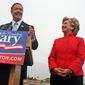 FILE - In this May 9, 2007 file photo, then-Maryland Gov. Martin O'Malley endorses Democratic New York Sen. Hillary Rodham Clinton's campaign for the 2008 presidency at City Dock in Annapolis, Md. More than a decade ago, Bill Clinton spotted a political star on the horizon, someone he predicted would go from a big-city mayor to a national leader _ maybe even to the White House. In the years that followed, Clinton and his wife, New York Senator Hillary Rodham Clinton, showed up time and again as their young ally rose up the political ranks, hosting fundraisers, headlining rallies, and connecting him with their sprawling network of political donors.  (AP Photo/Kathleen Lange, File)