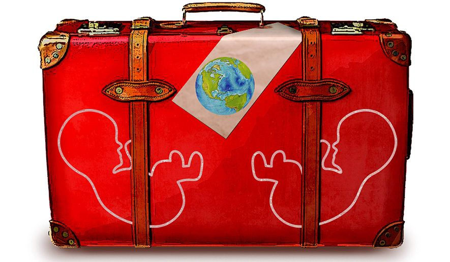 Bringing Children into the World Illustration by Greg Groesch/The Washington Times