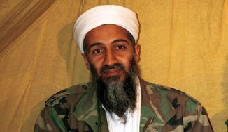 This undated file photo shows then-al Qaeda leader Osama bin Laden in Afghanistan. (AP Photo, File)