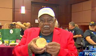 World War II veteran Sgt. John M. Watson, 96, was recognized as one of the Tuskegee Airmen in a surprise ceremony on Wednesday, May 20, 2015. (Image: Fox News screenshot) ** FILE **