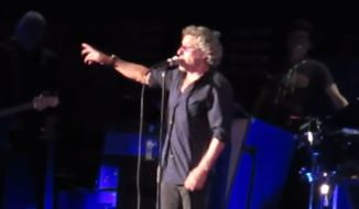The Who frontman Roger Daltrey threatened to walk off the stage at New York's Nassau Coliseum Wednesday night if fans in the audience didn't quit smoking marijuana during the performance. (YouTube/Michael Weinbaum)