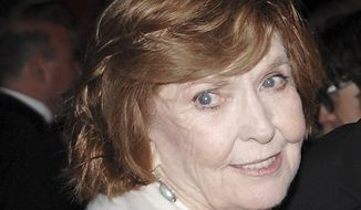 FILE - In this Nov. 12, 2008, file photo, comedian Anne Meara attends the Museum of the Moving Image Salute to Ben Stiller in New York. Meara, whose comic work with husband Jerry Stiller helped launch a 60-year career in film and TV, has died. She was 85. Jerry Stiller and son Ben Stiller say Meara died Saturday, May 23, 2015. (AP Photo/Evan Agostini, File)