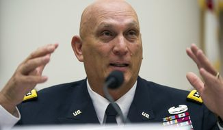 Army Chief of Staff Gen. Ray Odierno testifies on Capitol Hill in Washington, Sept. 18, 2013. (AP Photo/Cliff Owen, File) ** FILE **