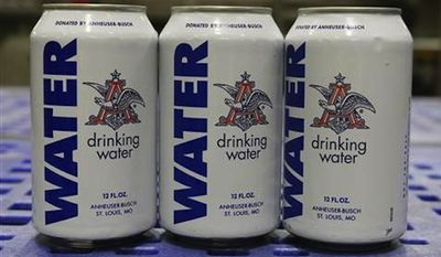 An Anheuser-Busch plant in northwest Georgia has temporarily halted its production of beer in order to supply thousands of cans of drinking water to flood-ravaged Texas and Oklahoma. (Anheuser-Busch)