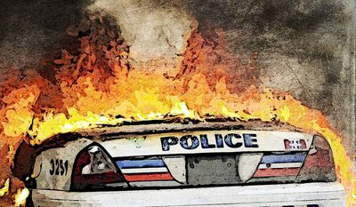 The Left's War on Police Illustration by Greg Groesch/The Washington Times