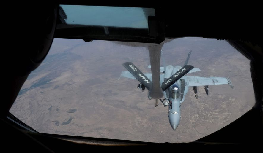 "While U.S. forces have conducted over 7,000 sorties over Iraq and Syria in 2015, only 25 percent had at least one ""weapons release"" upon Islamic State ground positions. (Associated Press)"