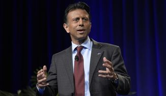 Louisiana Gov. Bobby Jindal speaks during Rick Scott's Economic Growth Summit in Lake Buena Vista, Fla., Tuesday, June 2, 2015. (AP Photo/Phelan M. Ebenhack) ** FILE **