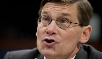 In this April 2, 2014 file photo, former CIA Deputy Director Michael Morell testifies on Capitol Hill in Washington. The former deputy CIA director made a series of factual misstatements while defending the agency's harsh treatment of detainees in his recent book, Senate intelligence committee staffers assert in a 54-page document filed with citations from CIA records. The detailed critique of the memoir by Michael Morell shows the extent to which critics and backers continue to try to shape public perceptions of the CIA's post 9/11 detention and interrogation program, even months after the release of a Senate report that sought to render a final judgment on it. (AP Photo/Manuel Balce Ceneta, File)