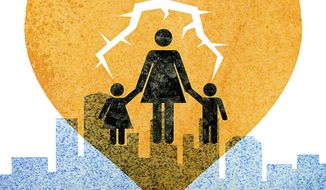 Broken Families of Welfare Policies Illustration by Greg Groesch/The Washington Times